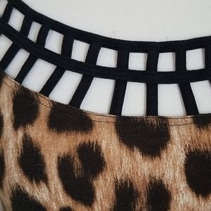 Tops - Caged Leopard Tunic nwot